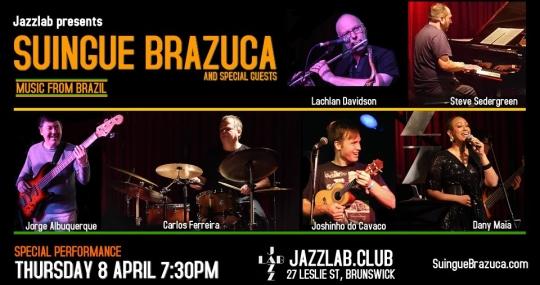 Suingue Brazuca Live At Jazzlab.Club – Samba, MPB, Brazilian Jazz & Beyond!